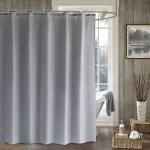 Wide gray shower curtain 22119