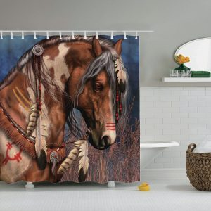 Indian hast shower curtain 22321