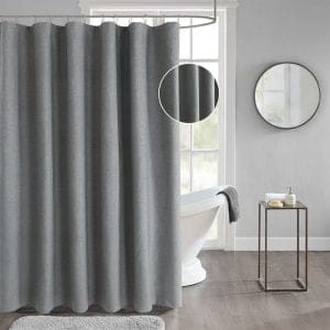 Dark gray shower curtain 23625