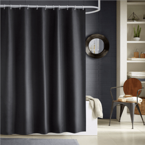 Black shower curtain 22118