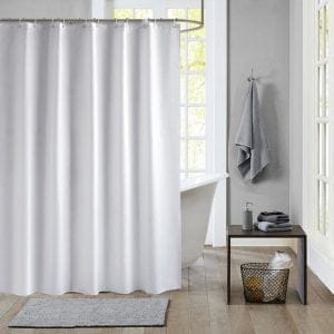 White shower curtain 22120
