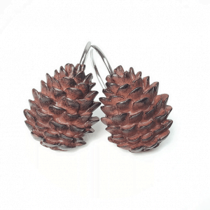 Spruce cones shower curtains
